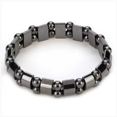 VIKI LYNN®Hematite Black Pearl Bracelet Hematite Metal Magnetic Therapy Bracelets for Arthritis Pain Releif and Sports Related - Jewelry For Ladies Hematite Jewelry, Hematite Bracelet, Pearl Bracelet, Stretch Bracelets, Bracelets For Men, Fashion Bracelets, Bangle Bracelets, Bangles, Health Bracelet