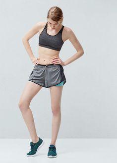 Fitness & running - short training confort   MANGO