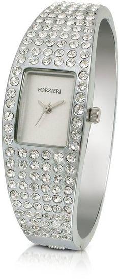 Forziere crystal cuff dress watch