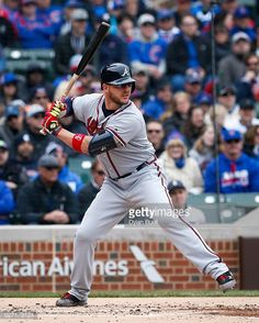 Tyler Flowers of the Atlanta Braves bats against the Chicago Cubs at Wrigley Field on April 29, 2016 in Chicago, Illinois.