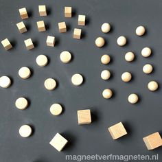 Nu bij ons magneten  van hout gemaakt in verschillende vormen voorzien van zeer sterke neodymium magneet!