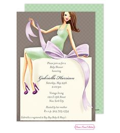 de65ca57fb24 Expecting A Big Gift Baby Shower Invitation Baby Shower Announcement