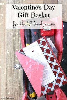 Looking for a gift for your husband?  If he loves tools, check out this Valentine's Day Gift Basket for the Handyman! @amgreetings #MyTuesdayValentine #ad