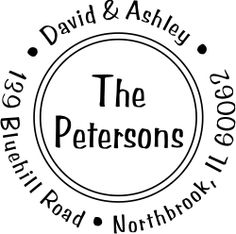 Petersons Double Border Address Stamp