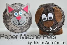 Paper Mache Pets - don't blow the balloons up completely as they are too hard for younger kids to finish