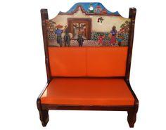 Booth Charros entrando al pueblo.  Descripción: Diseño: Charros entrando al pueblo Color: Diseño Asiento: Vinil naranja  2 Personas