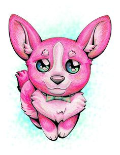 Hey, everyone, here is an adorable little bonus upload (along with my next two uploads) I decided to do kind of last-minute. I hope you all enjoy these cute little colorful fur babies. Pretty Animals, Colorful Animals, Cute Animals, Baby Corgi, Corgi Dog, Happy Animals, Animals And Pets, Anime Puppy, Corgi Drawing
