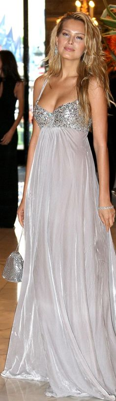 Petra Nemcova in Marc Bouwer Couture