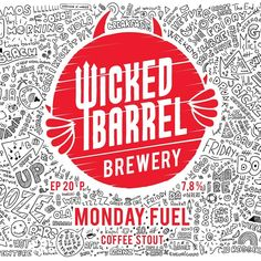 New label design for @wickedbarrelbrewing, some typos might be encountered