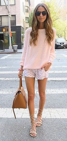 An Oversize Sweater, Loose Shorts, and Sandals