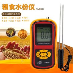33.85$  Buy here - http://aiaqs.worlditems.win/all/product.php?id=32742477668 - Digital Grain Moisture Meter  thermometer hygrometer Hygrometer Humidity Tester  for Corn Wheat Rice Bean Wheat 5%~30%