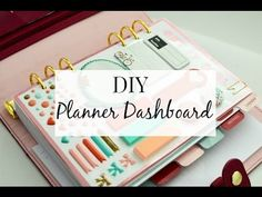 DIY Planner Dashboard - YouTube