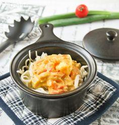 Spaghetti with Shrimp Curry