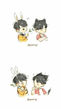 Owwww that's so cutee ♡ K Pop, Kpop Drawings, Dibujos Cute, Bts Chibi, Bts Fans, Kpop Fanart, Manga Drawing, Fandom, Art Pages