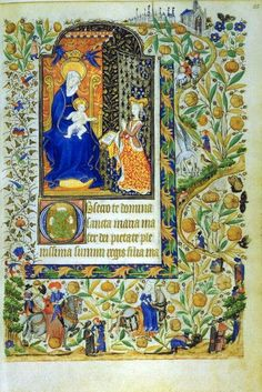 Book of Hours of Marguerite d'Orléans, western France, around 1430, Manuscripts Department, Western Section, Lat. 1156B, Parchment