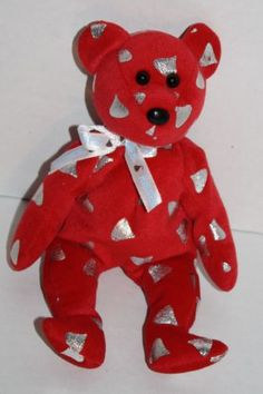 f5c42a943ee Ty Beanie Baby Yummy red Teddy Bear Hershey Kiss Walgreens Exclusive Rare  Kisses Beanie Bears