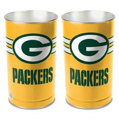 Get rid of your trash with style with this Green Bay Packers football waste…