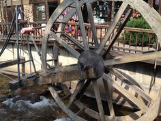 The water wheel on West Elkhorn, on the Fall River, Estes Park, Colorado