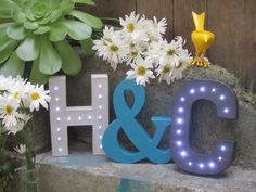 8 Battery Operated LED Letter Lights by BernalBurrow on Etsy - letter B for mantle or foyer table?!