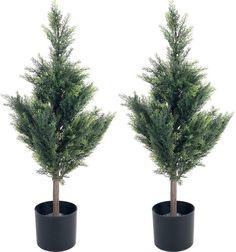 Asstd National Brand 34 Faux-Cedar Tree Set of 2