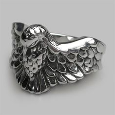 Phoenix Rising ring handmade in solid sterling silver. This ring looks as impressive on your finger as it does in the picture. Gentlemen, please start your engines... Stephen Einhorn's Phoenix Rising ring is in a league of its own. Handmade in our London workshops. © SE