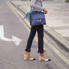Outfit Inspiration, Chloe Faye Bag, Chanel Slingbacks #chloeGirls #fayebag #streetstyle #fashionweek