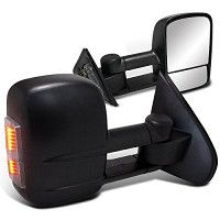 Spec-D Tuning Chevy Silverado Sierra 1500 Power Heat Towing Extending Mirrors 14 15 16 (Left + Right) Tacoma Headlights, Sealed Beam Headlights, Black Headlights, Projector Headlights, Toyota Tundra, Toyota Tacoma, Led Tail Lights, Chevy Silverado, Autos