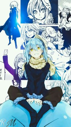 Rimuru-That time I got reincarnated as a slime Ken Anime, Anime Guys, Kawaii Chibi, Kawaii Anime, Manga Art, Manga Anime, Slime Wallpaper, Blue Hair Anime Boy, All Anime Characters