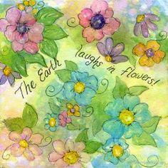 Bubble Painting Flower Art | Looksi Square