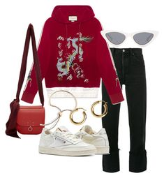 Untitled #23718 by florencia95 on Polyvore featuring polyvore, fashion, style, RE/DONE, Reebok, Jil Sander, Argento Vivo, Le Specs, Gucci and clothing