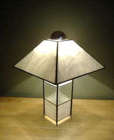 Contemporary Stained Gl Lamp