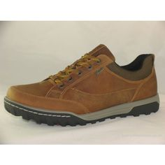 a374ab48bdc Mens Ecco 830604 Urban Lifestyle Camel waterproof casual lace up shoe. Waxy  nubuck leather uppers