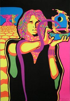Jim Morrison psychedelic 1969 poster by rising70, via Flickr