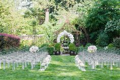 Glamorous Garden Wedding