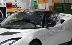 Lotus Evora Gloss Black Roof Wrap - Zilla Wraps
