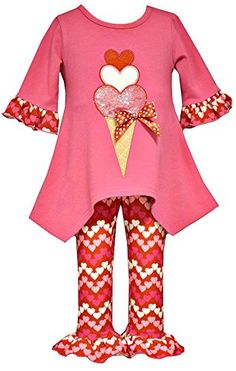 Bonnie Jean Little Girls Valentines Day Ice Cream Legging Set   Adorable fuchsia tunic with ice cream applique and matching print ruffle cotton spandex leggings. Machine wash. Imported. Valentines Day Read  more http://shopkids.ca/kids-girl/bonnie-jean-little-girls-valentines-day-ice-cream-legging-set