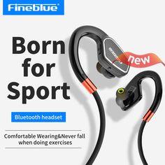 Fineblue M3 Professional Running Sports Bluetooth Headset Earphone Headphone Hands-free with Microphone Sport In-ear Earphone #Affiliate