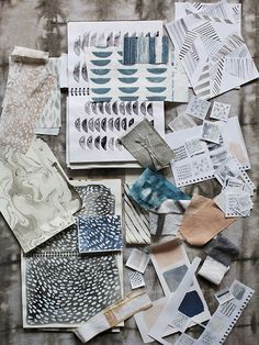 Love studying other designers processes. There are many known processes for the creative mind. What is yours? Rebecca Atwood Howland Collection Process