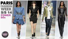 Paris Fashion week, spring trend  2014 Power 80's