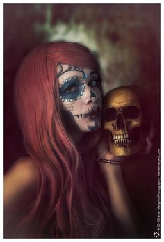 Sugar Skull Make Up...love this too for Halloween