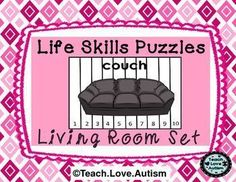 In this set you will find puzzles with different amounts of pieces to work for different learners in your classroom. Check the preview above to see all 4 differentiated levels! Each puzzle is a different item that would be located in a living room. This will help students not only work on problem solving skills but, work on learning vocabulary and identifying that vocabulary in a different way.