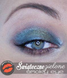 Make-up: Świąteczne smoky eye zielone Blond, Eyeliner, Eye Liner, Eyeliner Pencil