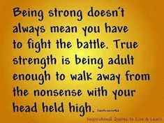 Image result for maturity is walking away