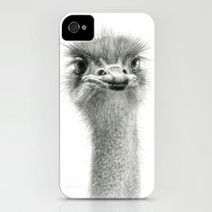 Cute Ostrich Expression SK055 iPhone & iPod Case
