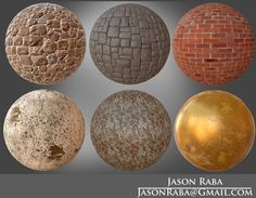 A few texture spheres from my first school portfolio project, Jason Raba on ArtStation at https://www.artstation.com/artwork/a-few-texture-sphere-from-my-first-school-portfolio-project