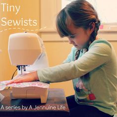 Safety tips for teaching kids to sew-- The Tiny Sewist Series  from Jennuine Life