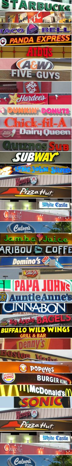 Links To Nutritional Information For Popular Fast Food Joints!