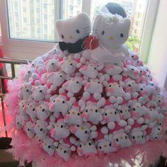 99 kt high class plush bouquet 99只KT猫仿娃娃玩偶花卡通花束