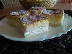 sypaný  tvarohový  koláčik