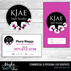 Kjae Hair Salon Logo Design and stationery. Want a logo design for your company? Contact me! www.mujka.ca